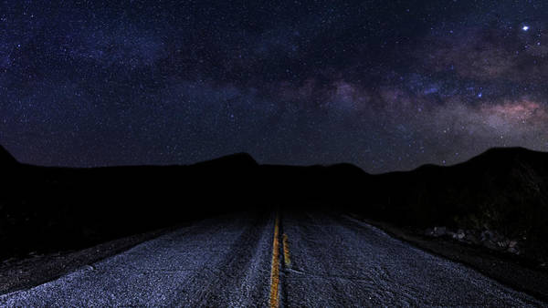 Photograph - lonely Desert Road on a Starry Desert Night  by James Sage