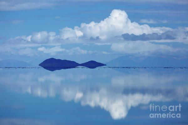 Photograph - Lonely Island Salar De Uyuni Bolivia by James Brunker