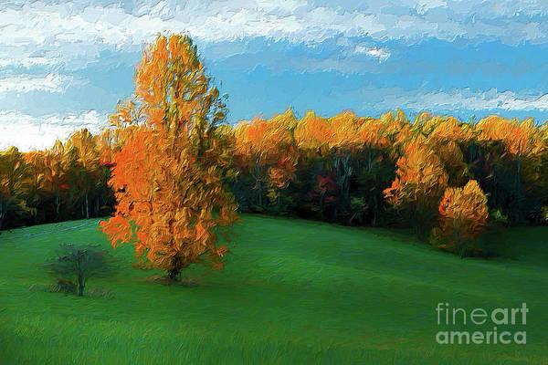 Wall Art - Painting - Lonely Meadow Ap by Dan Carmichael