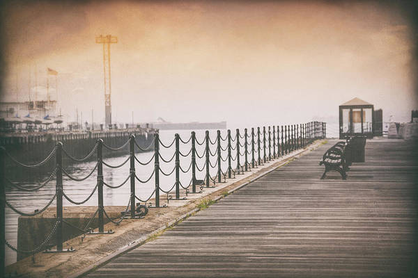 Wall Art - Photograph - Lonely Pier Boston Massachusetts by Carol Japp