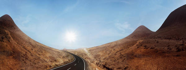 Canary Islands Photograph - Lonely Road Through Magic Desert Hills by Dejan Patic