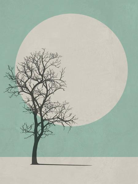 Earth Day Wall Art - Digital Art - Lonely Tree I by Naxart Studio