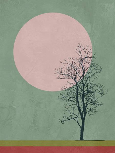 Earth Day Wall Art - Mixed Media - Lonely Tree II by Naxart Studio
