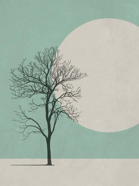 Wall Art - Digital Art - Lonely Tree by Naxart Studio