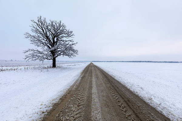 Photograph - Lonely Winter Road by Scott Bean