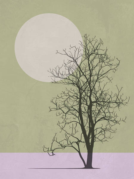 Earth Day Wall Art - Mixed Media - Lonely Winter Tree by Naxart Studio