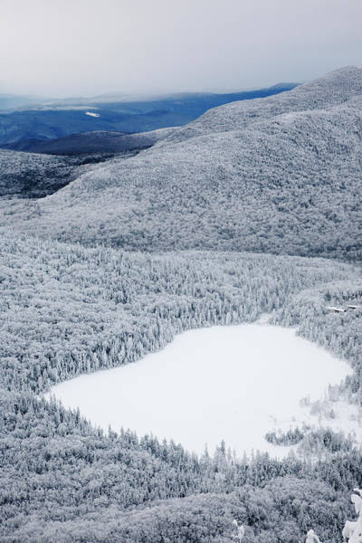 New Hampshire Photograph - Lonesome Lake From Hi-cannon Trail by Premium Uig