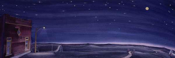 Painting - Lonesome Playground At Night by Scott Kirby