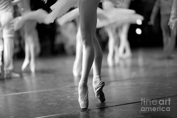 Wall Art - Photograph - Long And Lean Ballet Dancers Legs by Anna Jurkovska