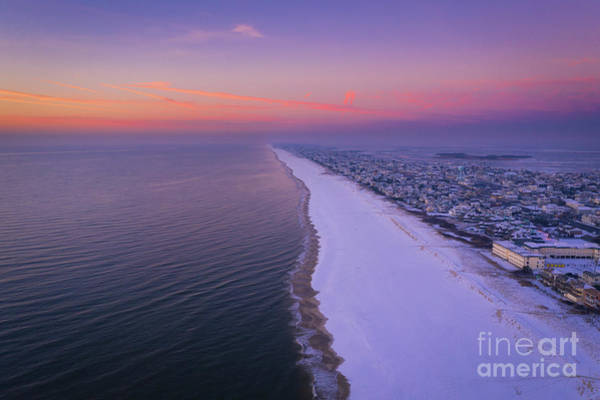 Photograph - Long Beach Island Aerial View by Michael Ver Sprill