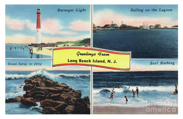 Photograph - Long Beach Island Greetings - Version 3 by Mark Miller