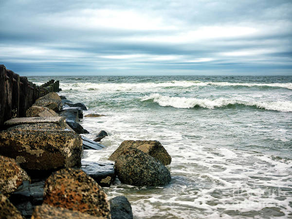 Photograph - Long Beach Island Rocks In The Ocean by John Rizzuto
