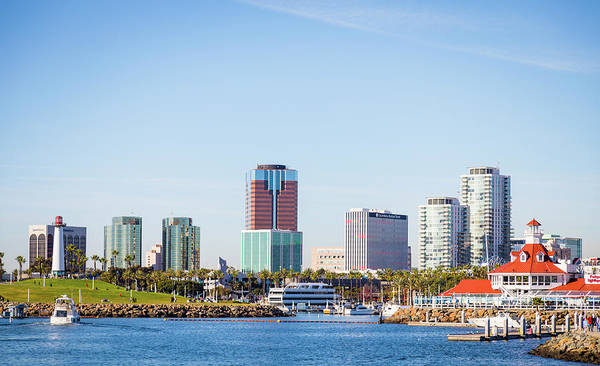 Wall Art - Photograph - Long Beach Skyline by Hyuntae Kim