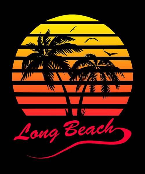 Wall Art - Digital Art - Long Beach Sunset by Filip Hellman