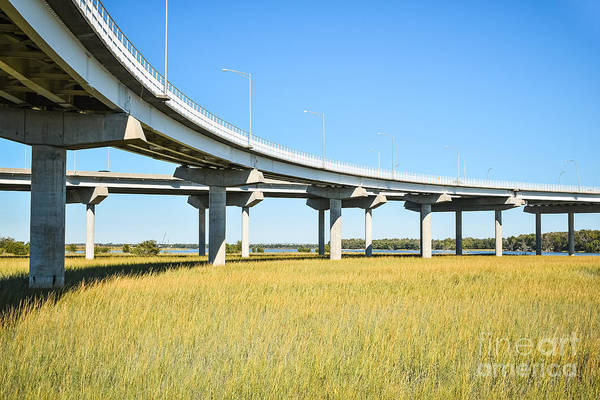 Photograph - Long Concrete Bridge  by Steven Liveoak