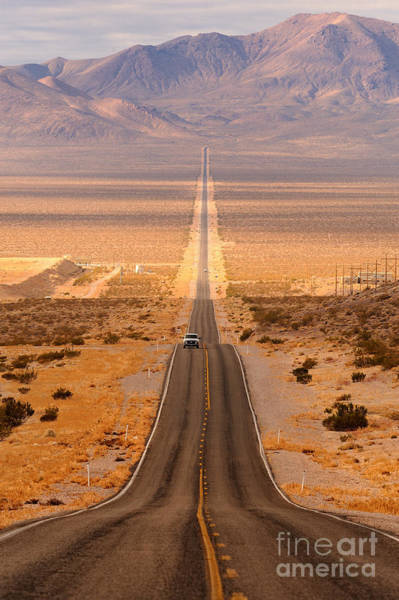 Wall Art - Photograph - Long Desert Highway Leading Into Death by Nagel Photography