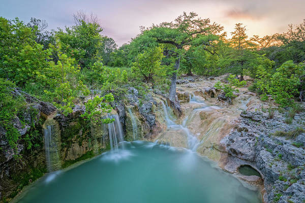 Photograph - Long Exposure Of Edge Falls Crossing - Kendalia Kendall County - Texas Hill Country by Silvio Ligutti