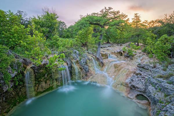 Wall Art - Photograph - Long Exposure Of Edge Falls Crossing - Kendalia Kendall County - Texas Hill Country by Silvio Ligutti