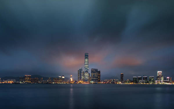 Kowloon Photograph - Long Exposure Shot Of Kowloon Skyline by Coolbiere Photograph