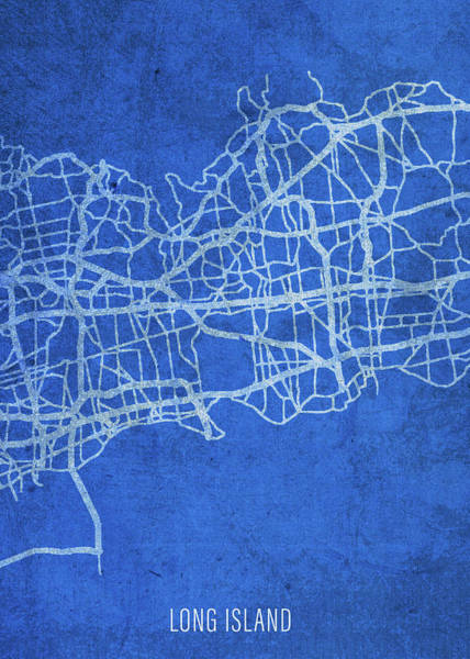 Wall Art - Mixed Media - Long Island New York City Street Map Blueprints by Design Turnpike