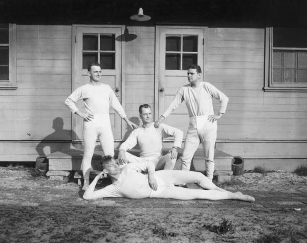 Old People Photograph - Long Johns On by Archive Photos