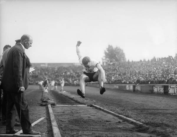Sport Venue Photograph - Long Jump by A. R. Coster