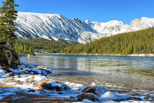Indian Peaks Wilderness Photograph - Long Lake by Eric Glaser