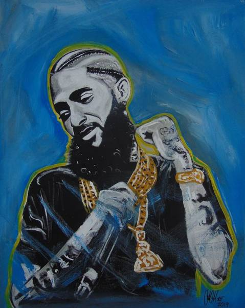 Painting - Long Live Nipsey by Antonio Moore