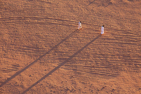 Adult Male Photograph - Long Shadow Travellers by David Du Plessis