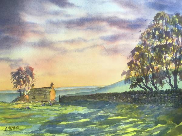 Painting - Long Shadows At Sunset by Glenn Marshall