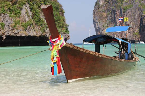 Phi Photograph - Long Tail Boat by Jjacob