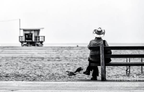 Photograph - Long Way From Home At Santa Monica by John Rizzuto