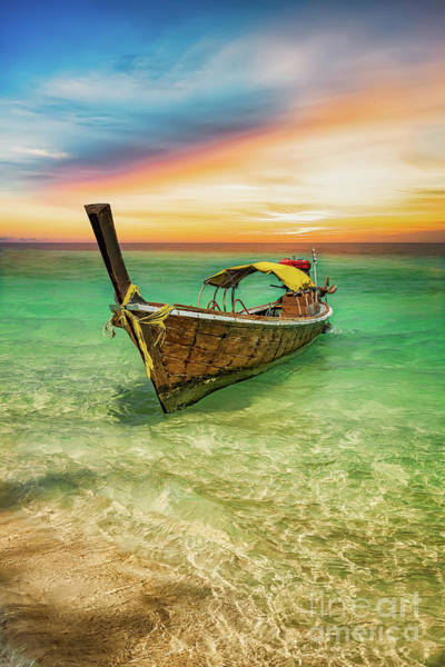 Photograph - Longboat Sunset Thailand  by Adrian Evans