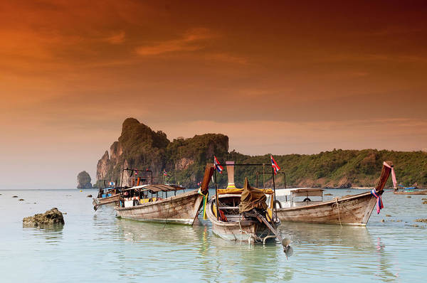 Phi Photograph - Longboats In The Afternoon Glow by Flash Parker
