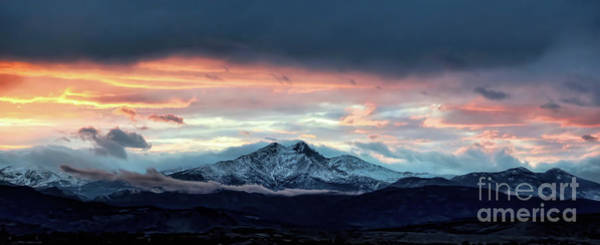 Longs Peak At Sunset Art Print