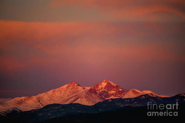 Photograph - Longs Peak Breaking Dawn by Jon Burch Photography
