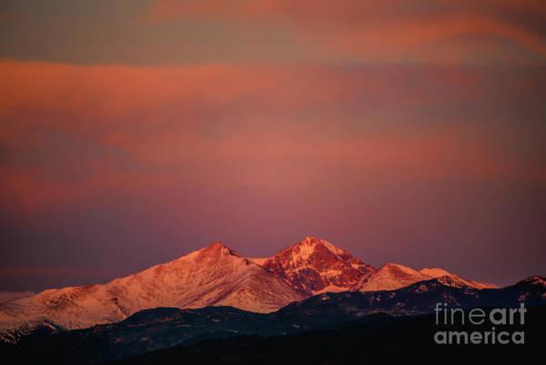 Photograph - Longs Peak Breaking Dawn by Jon Burch Photography