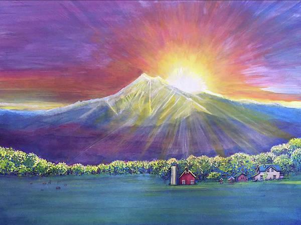 Painting - Longs Peak Colorado by David Sockrider