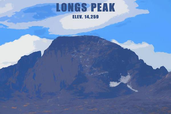 Mixed Media - Longs Peak Elevation by Dan Sproul