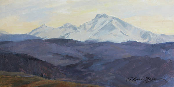Wall Art - Painting - Longs Peak, Late March by Anna Rose Bain