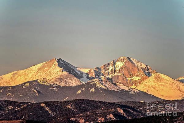 Photograph - Longs Peak Spring Morning Sun by Jon Burch Photography