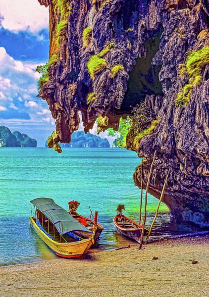 Wall Art - Photograph - Longtail Boats - Phang Nga Bay - Thailand by Steve Harrington