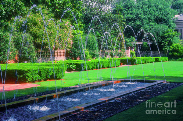 Photograph - Longue View Garden Fountains by Bob Phillips