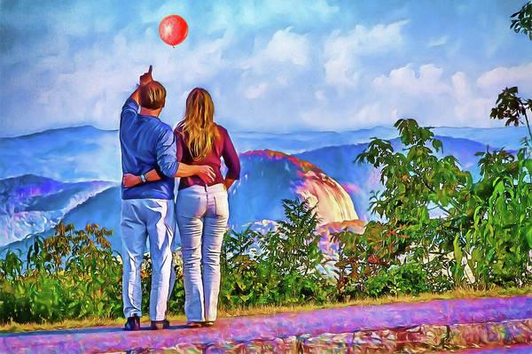 Wall Art - Photograph - Look At The Red Balloon by John Haldane