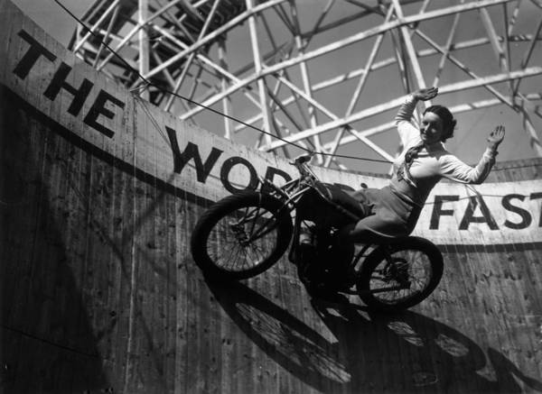 Southend Photograph - Look No Hands by Fox Photos