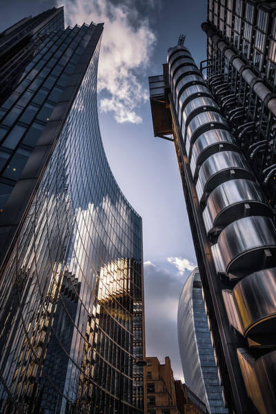 Photograph - Look Up At Lloyds by Chris Fletcher