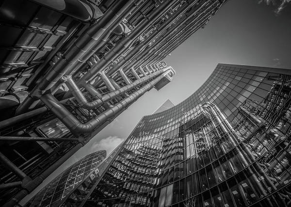 Photograph - Look Up London No 2 Mono by Chris Fletcher