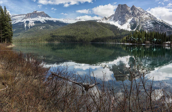 Photograph - Looking Across Emerald Lake With Mt Wapta And Mt Burgess by Belinda Greb