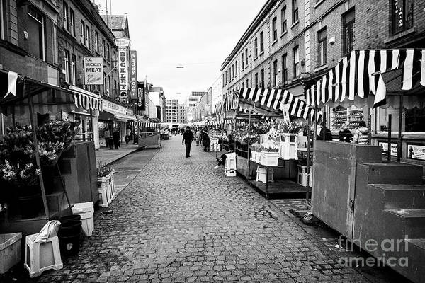 Wall Art - Photograph - Looking Along Moore Street From Henry Street Dublin Republic Of Ireland Europe by Joe Fox