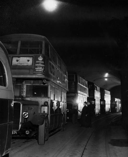Public Land Photograph - Looking At Buses by Fred Morley